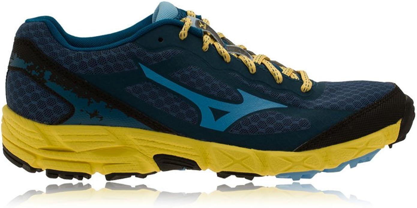 Mizuno - Zapatillas de running para mujer INK BLUE/YELLOW CREA INK ...