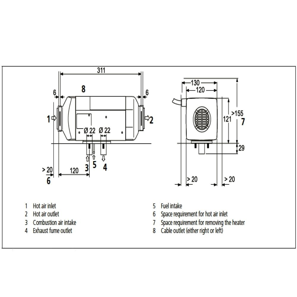 Webasto Rv Heater Air Top 2000 St C Camper 12v Diesel Thermo Wiring Diagram 4114762a Everything Else