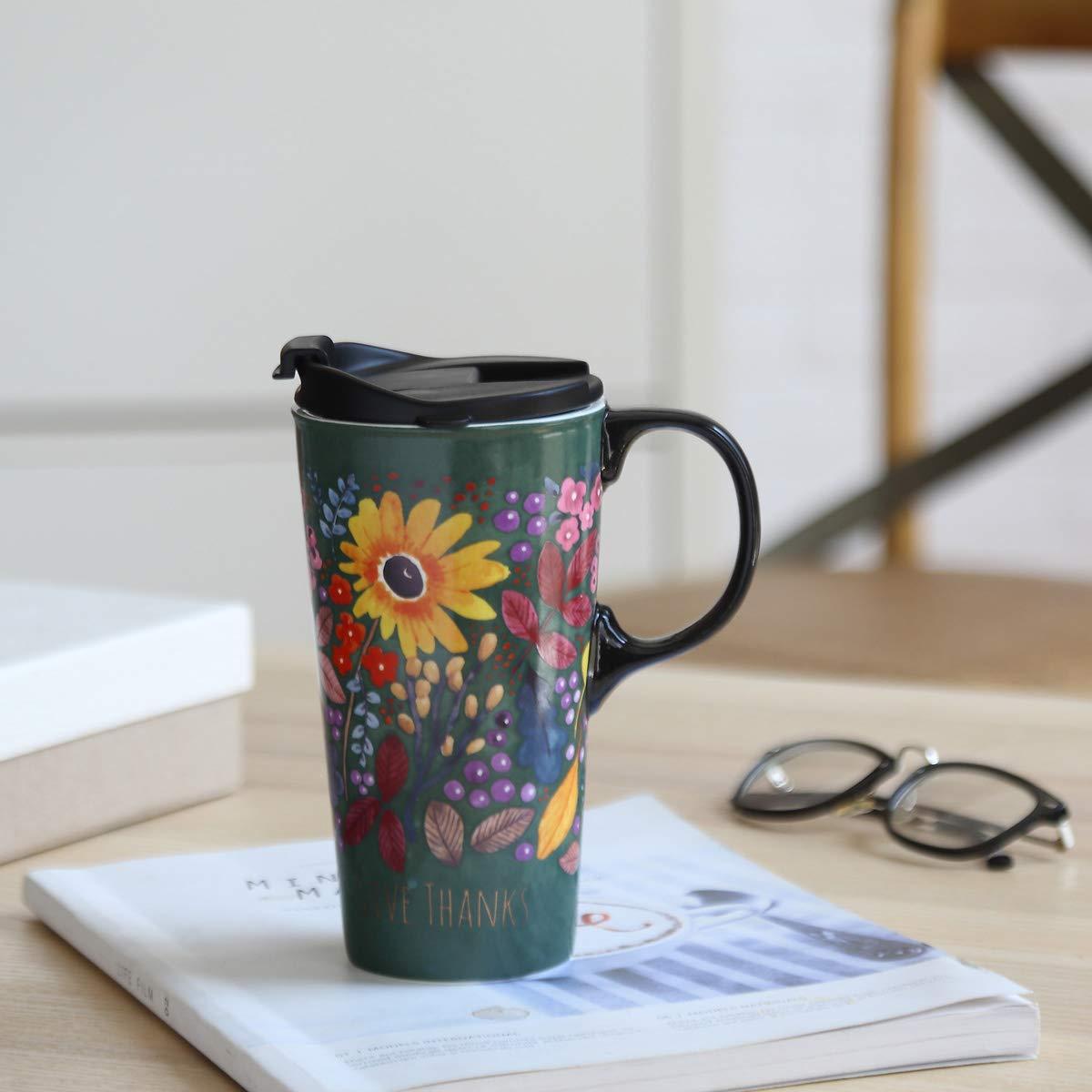 Milk Sealed Lid With Gift Box Topadorn Tall Ceramic Travel Mug 17 oz