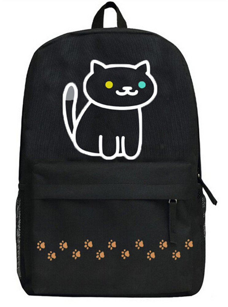 Siawasey Neko Atsumeアニメ猫裏庭コスプレブックバッグDaypack Collegeバックパックスクールバッグ   B071KC29KM