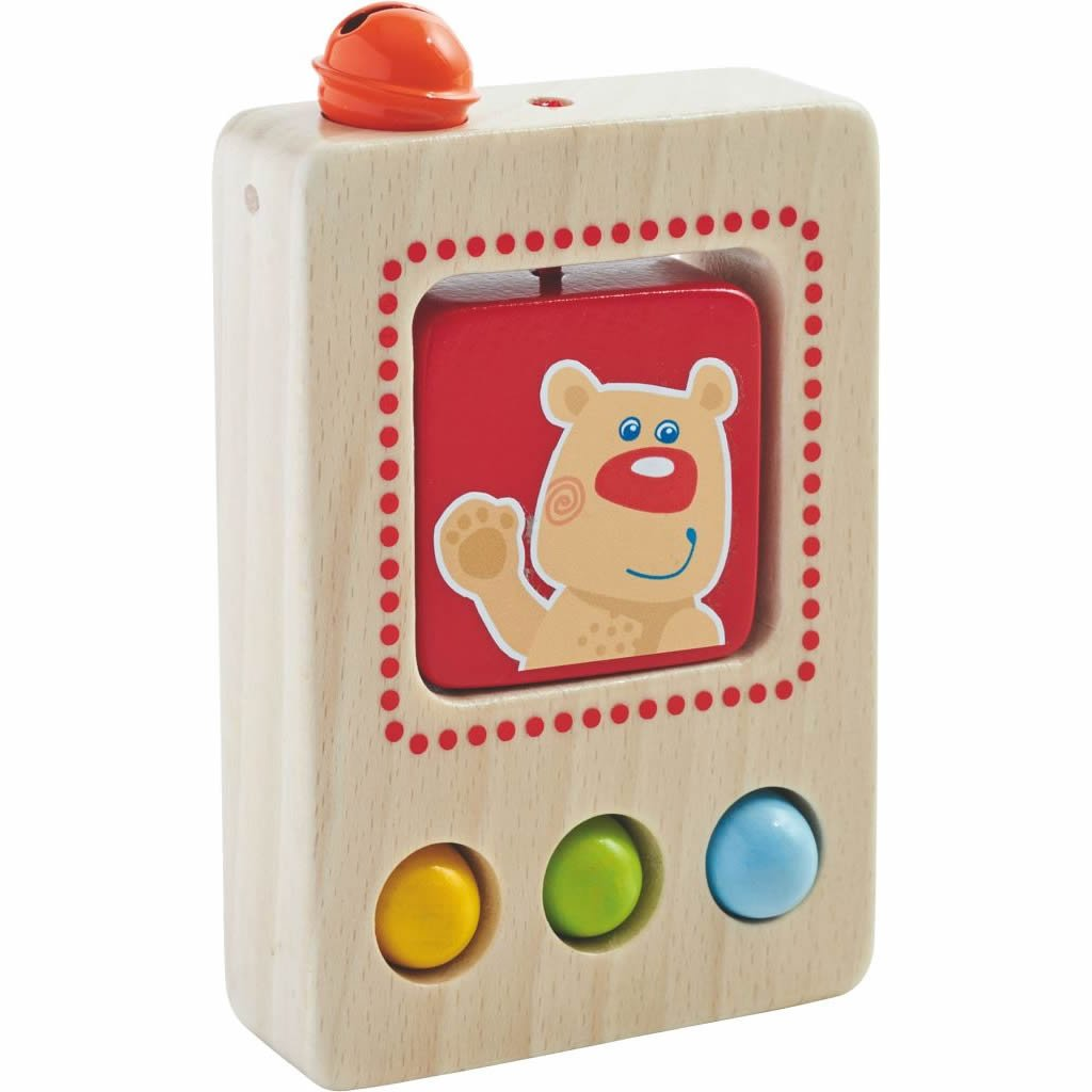 HABA Baby's First Phone - Classic and Simple Wooden Toy - Stimulates Imagination and Role Play