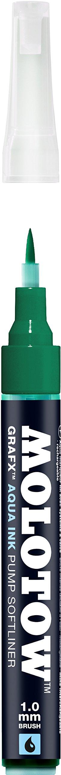 Molotow GRAFX Aqua Ink Soft Liner Brush Pump Marker, Dark...