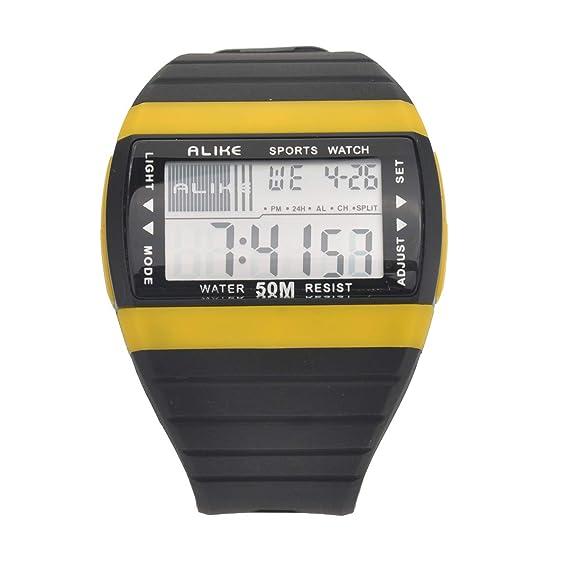 Alike AK6116 Multifuncional Impermeable Unisex Niños Niñas LED Digital Deportes Reloj de Pulsera con Cronómetro/