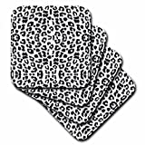 3dRose CST_165799_1 Snow Leopard Animal Print Soft Coasters, (Set of 4)