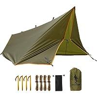 FREE SOLDIER Waterproof Portable Tarp Multifunctional Outdoor Camping Traveling Awning Backpacking Tarp Shelter Rain Tarp
