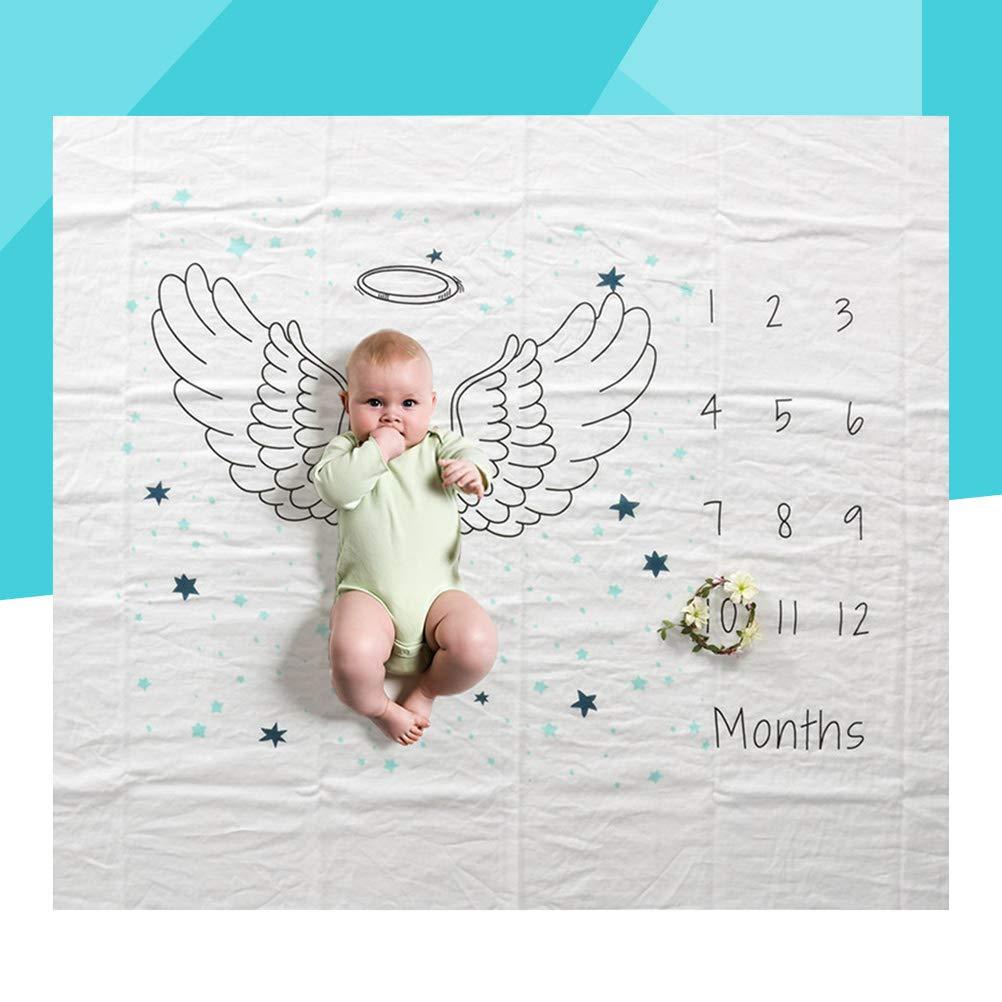 Ala Toyvian Baby Milestone Blanket Mensual Photo Prop Regalo perfecto para las nuevas mam/ás Unisex de Baby Shower para Baby Boy y Girl