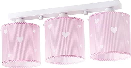 Lampadario Rosa Cameretta : Lampadario a sospensione a forma di cuore s rosa lampada