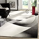 Safavieh Hollywood Collection HLW713G Grey and Dark Grey Mid-Century Modern Abstract Area Rug (5'3'' x 7'6'')