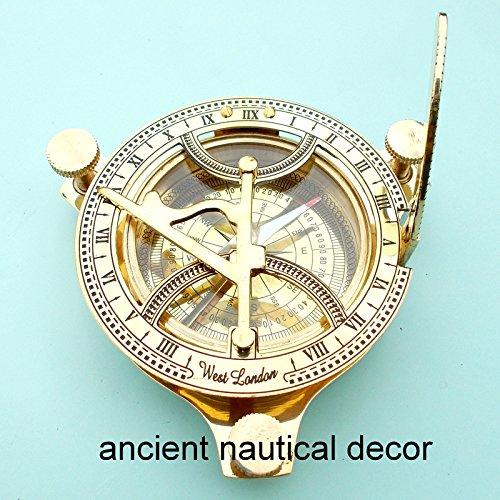 ヴィンテージMaritime Westロンドンアンティーク真鍮日時計コンパス航海の装飾ギフト B071XPF5K2