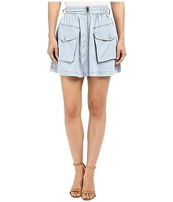8f1794e4d21bd Diesel DE-BODEN-B GONNA Jeans pour femme Mini jupe (W25, Bleu ...