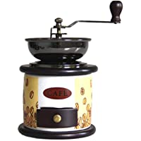 DJDLLZY Koffiezetapparaat, handmatige koffiemolen retro hand koffiemolen opslag compact formaat met kleine lade hand…