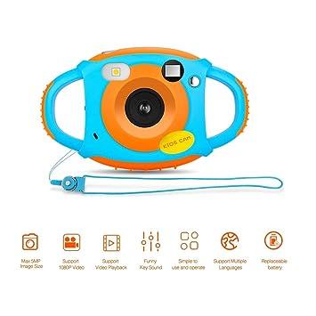 Cámara para Niños Camara Fotos Niños Cámara Digital HD para Niños 1.77 HD Color Pantalla 5 MP Digital Cámara Infantil: Amazon.es: Electrónica