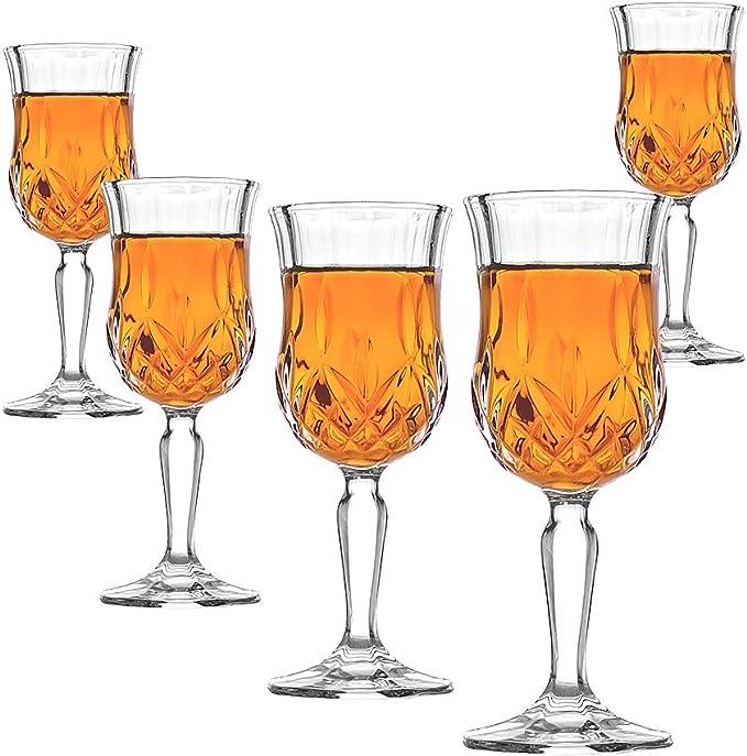 Amlong Crystal Lead Free Cordial Glasses 5 Oz Set Of 6 Cordial Glasses Amazon Com