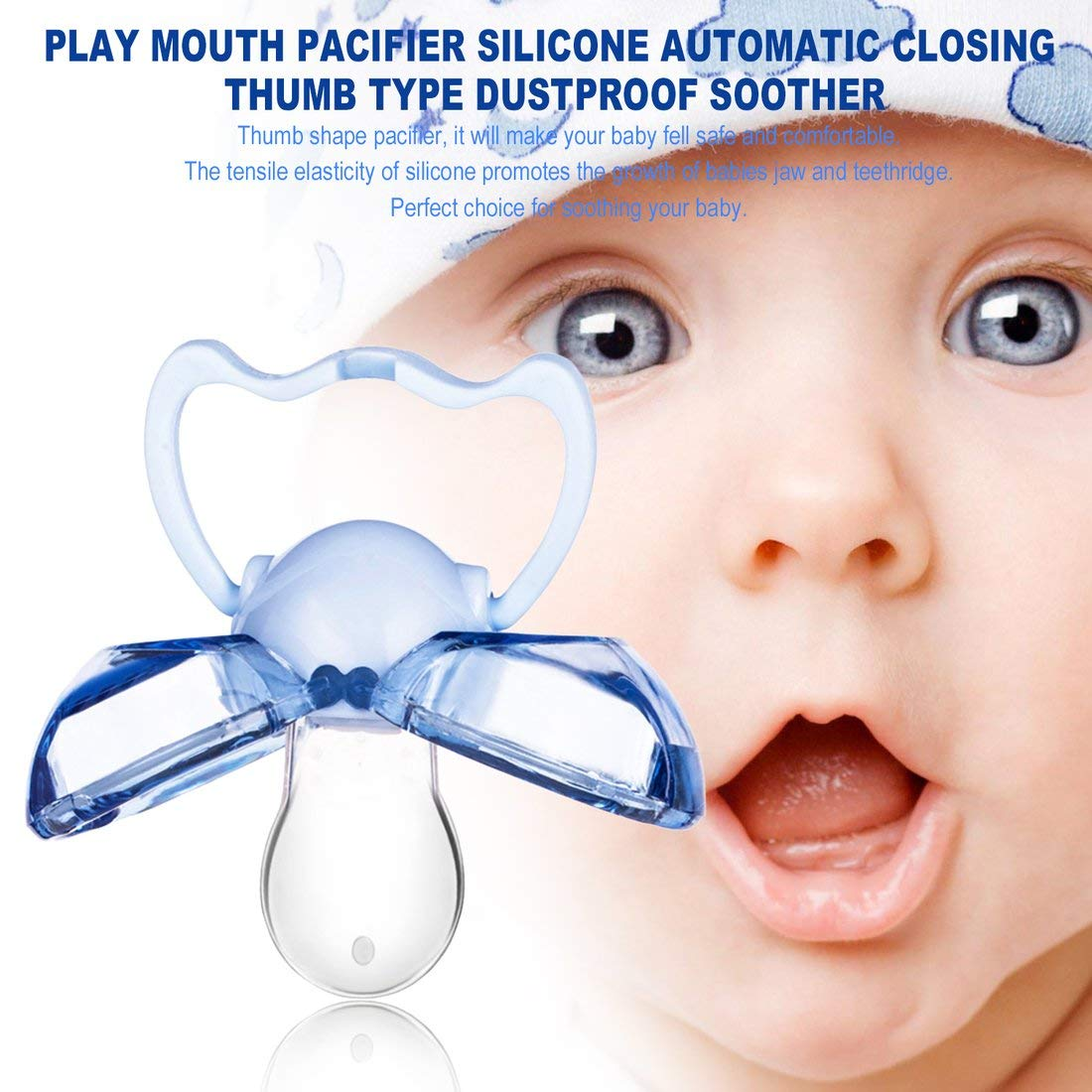 Amazon.com: Chupete de boca de silicona con cierre ...