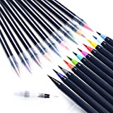 Art Watercolor Brush Pens Set – Doingart 20 Colors Art Marker Pens Soft Flexible Tip Water Coloring Painting Brush for sketching drawing and calligraphy Adult Coloring Books