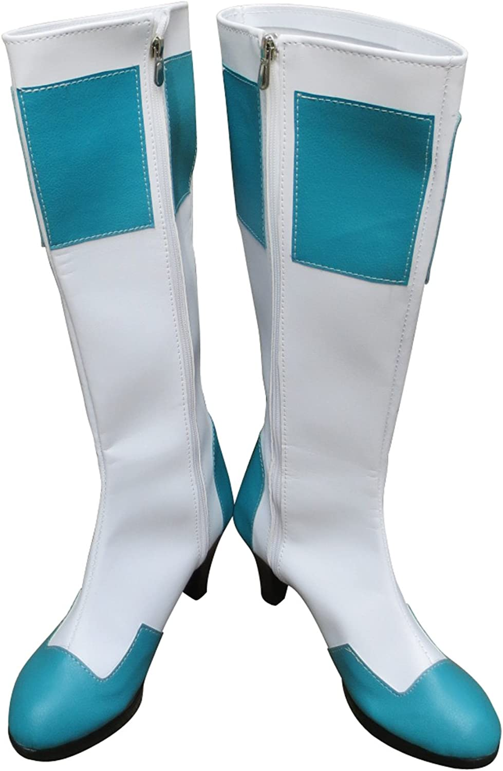 Psalms of Planets Eureka White Blue Long Halloween Cosplay Shoes Boots
