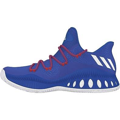sale retailer ae634 59268 adidas Crazy Explosive Low Shoe Men s Basketball 10.5 Blue-White-Power Red
