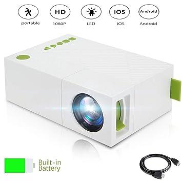 ZIHENGUO Mini proyectores, proyector portátil en casa 1080P ...