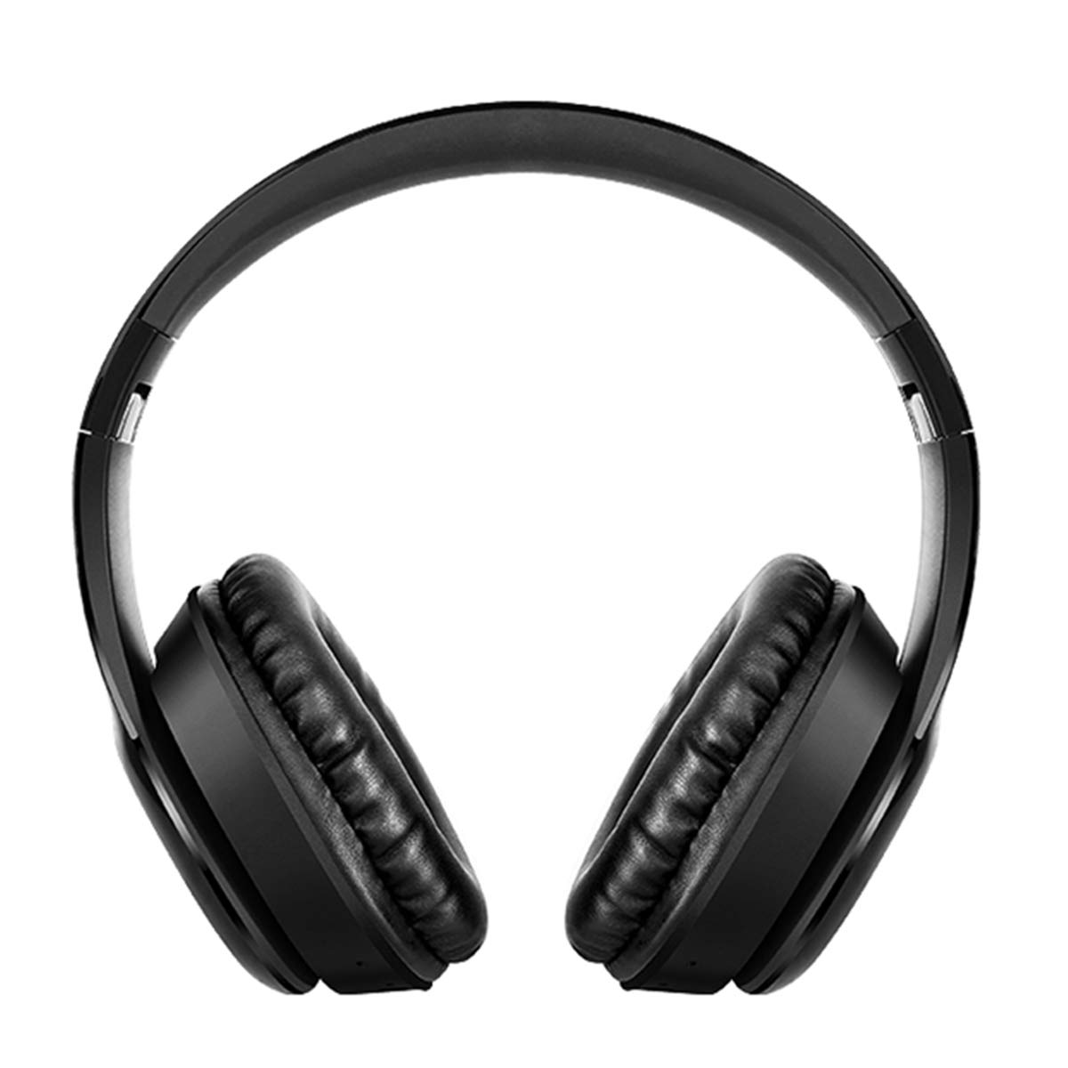 Yuehuam Bluetooth Headphones Over Ear BT5.0 Wireless Over-Ear Headphone Rechargeable HiFi Stereo Headset Foldable Stereo Earphone Super Bass Headset w/Mic (Black)