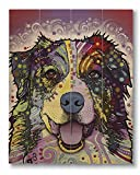 Dean Russo Australian Shepherd Printed on 11x14 Wood Pallet Slats Wall Art Sign Plaque Distressed Design