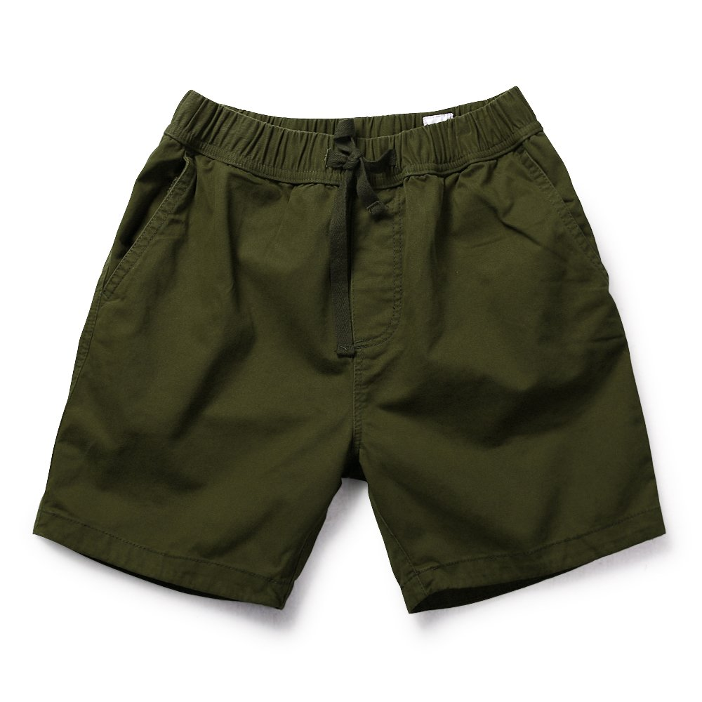 OCHENTA Men's Loose Fit Drawstring Twill Cargo Shorts Army Green Tag 2XL - US 36
