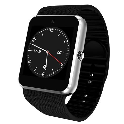 Zantec WIFI Android 4.42 reloj inteligente reloj de pulsera de acero inoxidable reloj 3G aplicación de apoyo Descarga de regalo: Amazon.es: Relojes