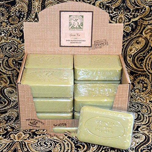 Case of 12 Pre de Provence 250g Green Tea Shea Butter Enriched Triple Milled Soap