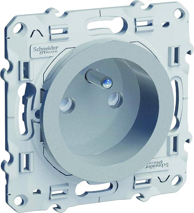 Schneider Electric SC5S53C806P Plaque 3 postes Odace Touch Weng/é Liser/é alu