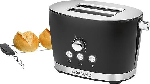 Clatronic TA 3690 Tostadora de Pan, 2 Ranuras, 3 Funciones, tostar ...
