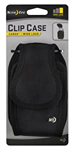 Nite Ize Clip Case Cargo Phone Holster - Protective, Clippable Phone Holder For Your Belt Or Waistband - Wide Load - Black