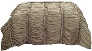 Rizzy Home Cotton Quilts Rizzy Home Clementine Khaki Queen Size Quilt 90 Inches X 92 Inches 90 X 92 X 0.2 Inches Khaki Model # QLTBQ425100KI9092