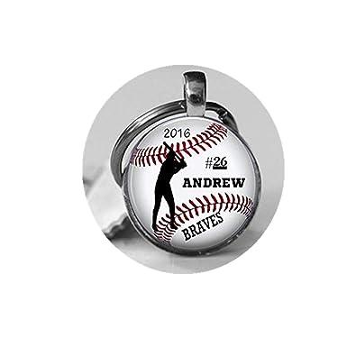 Llavero de béisbol personalizado, con nombre del equipo de ...