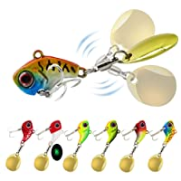 Spinnerbait Blade Indiana #6 Lisse Or avec #3 Sampo swivel Paquet de 12