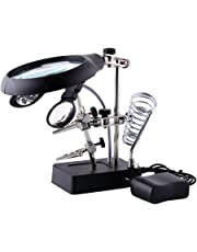 Tools Humor Magnifier With Led Light 3.5x 10x Led Light Magnifier Soldering Helping Auxiliary Clamp Alligator Clip Stand Adjustable Holder 2019 Official Magnifiers