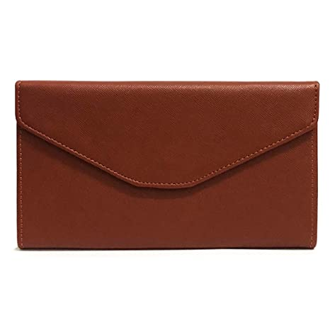 NEWANIMA Fashion Leather Women Phone Passport Holder Envelope multifunction wallet