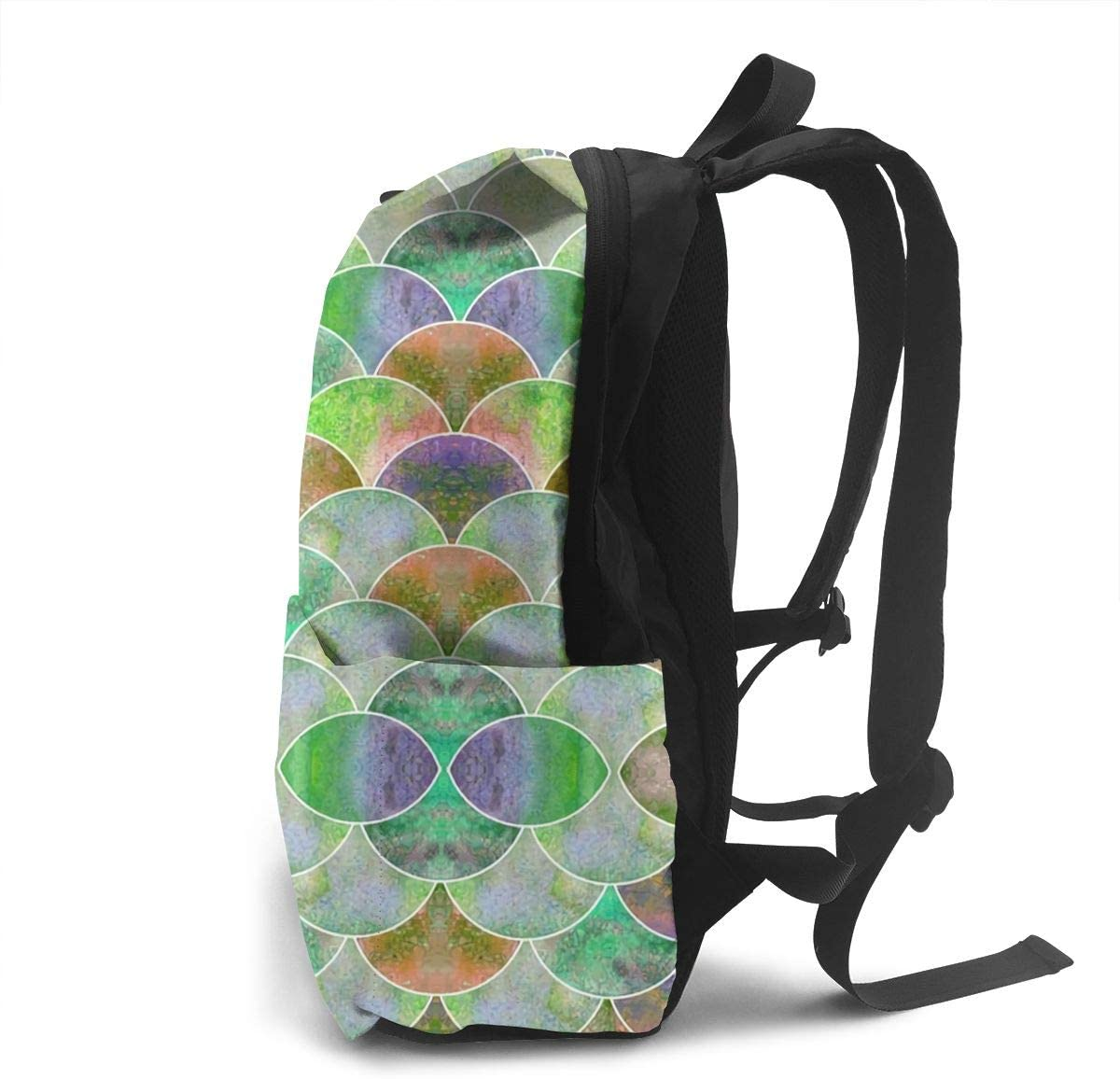 Fish Scale Ocean Texture,Unisex Adult Unique Backpack,School Casual Sports Book Bags,Multi-function travel storage backpack for daily work or school,Lightweight Travel Daypacks