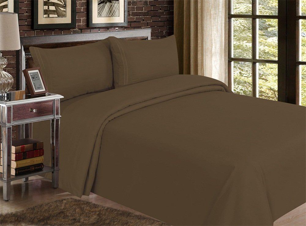 Red Nomad Luxury Duvet Cover & Sham Set, 3 Piece, Full/Queen, Brown