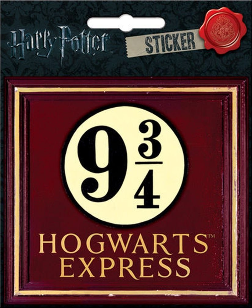 "Ata-Boy Harry Potter 9 3/4 Hogwarts Express 4"" Full Color Sticker"