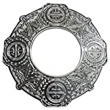 AAR Celtic Knot Chrome Finish Fly Plaid Piper Brooch for 3'' Diameter Kilt