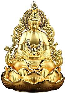 Statue Feng Shui Decor Creativity Guan Yin Buddha Statue Figurine, Meditating Double Sided Quan Yin Sculpture Ornament, Kuan Yin Statue, Best Chinese Feng Shui Gifts, Home Car Decoration wit