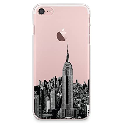 finest selection 27956 b5ca3 CasesByLorraine iPhone 8 Case, iPhone 7 Case, New York City View Clear  Transparent Case NYC Slim Hard Plastic Back Cover for Apple iPhone 7 &  iPhone 8 ...