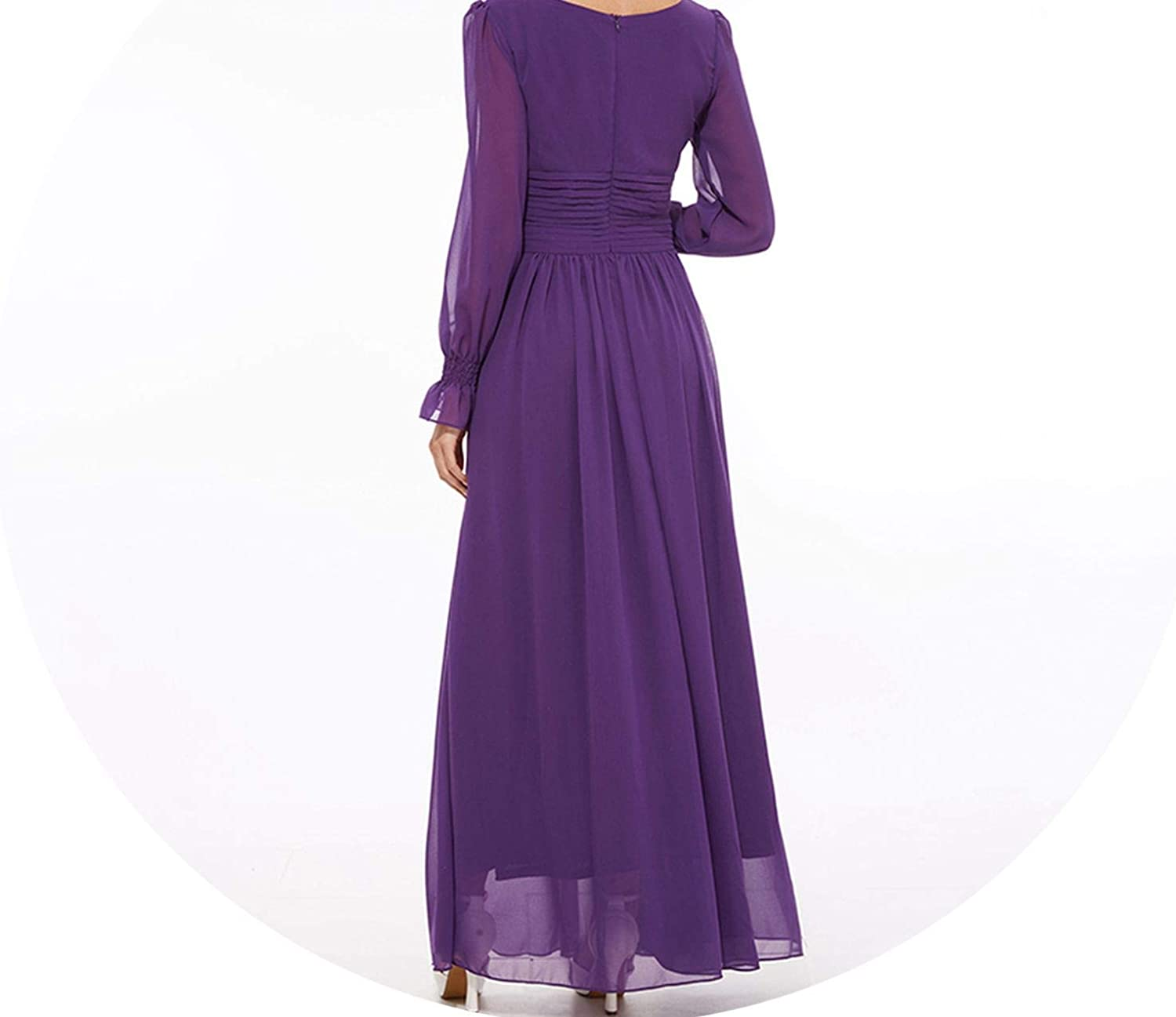 Pleated Dress Ankle-Length Square Collar Draped Lantern SLE Long Robe Elastic Swing Dresses