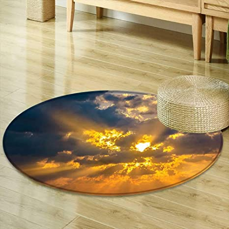Amazon Com Mikihome Round Area Rug Carpet Apartment Decor