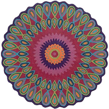 lr resources round area rug 3u0027 multi color vibrance collection