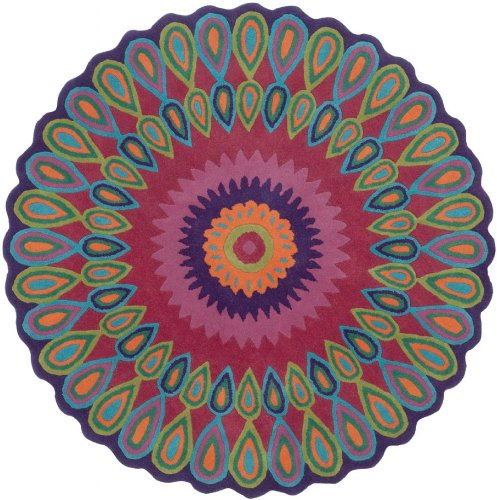 LR Resources Contemporary Round Area Rug 3' Multi Color Vibrance Collection