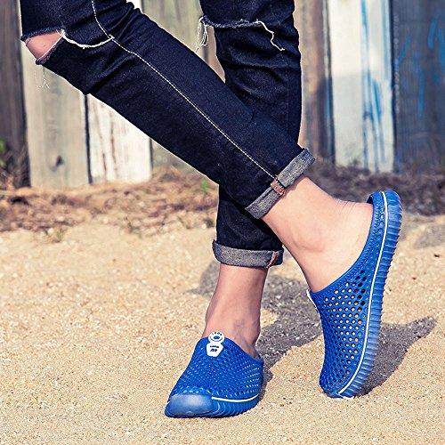 Respirant Été Sandales Sabots de Chaussons Chaussures Plage Pantoufles Femmes Flip Mules Sport Et Unisexe Chaussures Hommes Bleu Amants Piscine Pantoufles Jardin Sunenjoy Flops OIwxX0zqO