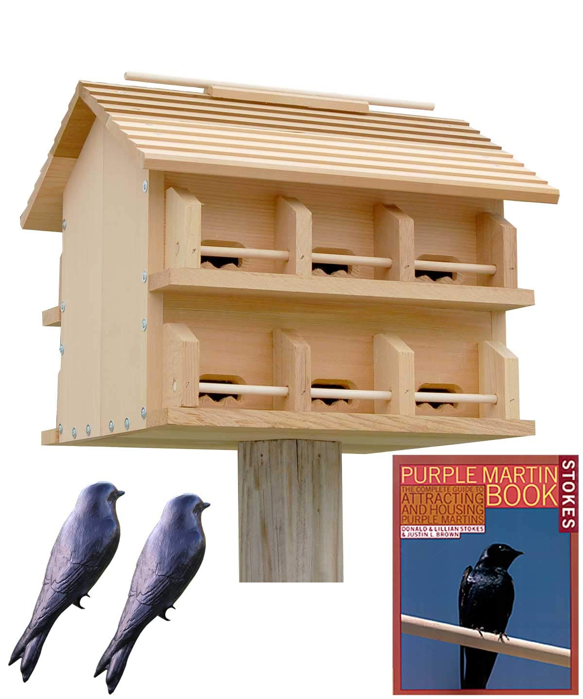 BestNest Heath Cedar Crescent Entry Purple Martin House Package