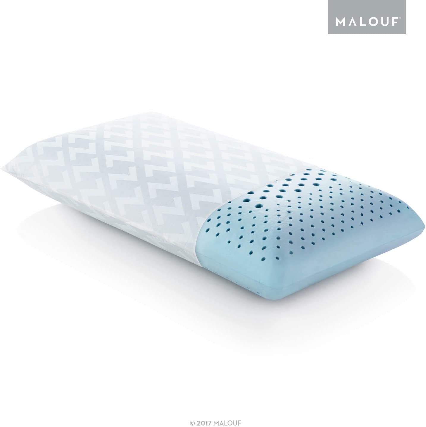 Z ZONED GEL DOUGH Gel-Infused Memory Foam Bed Pillow - 5-year Warranty - King - High Loft
