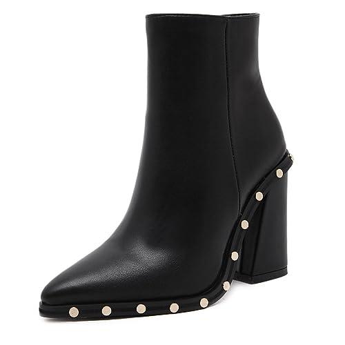 Qin Stiletto Tacones Toe La ZapatosAmazon Señaló amp;x Mujer Botines dBoerCWx
