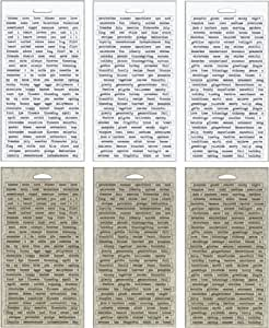 amazoncom seasonal chitchat word stickers by tim holtz With kitchen colors with white cabinets with tim holtz stickers